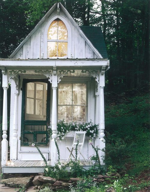 cabaña blanca