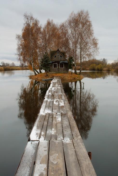 cabaña lago