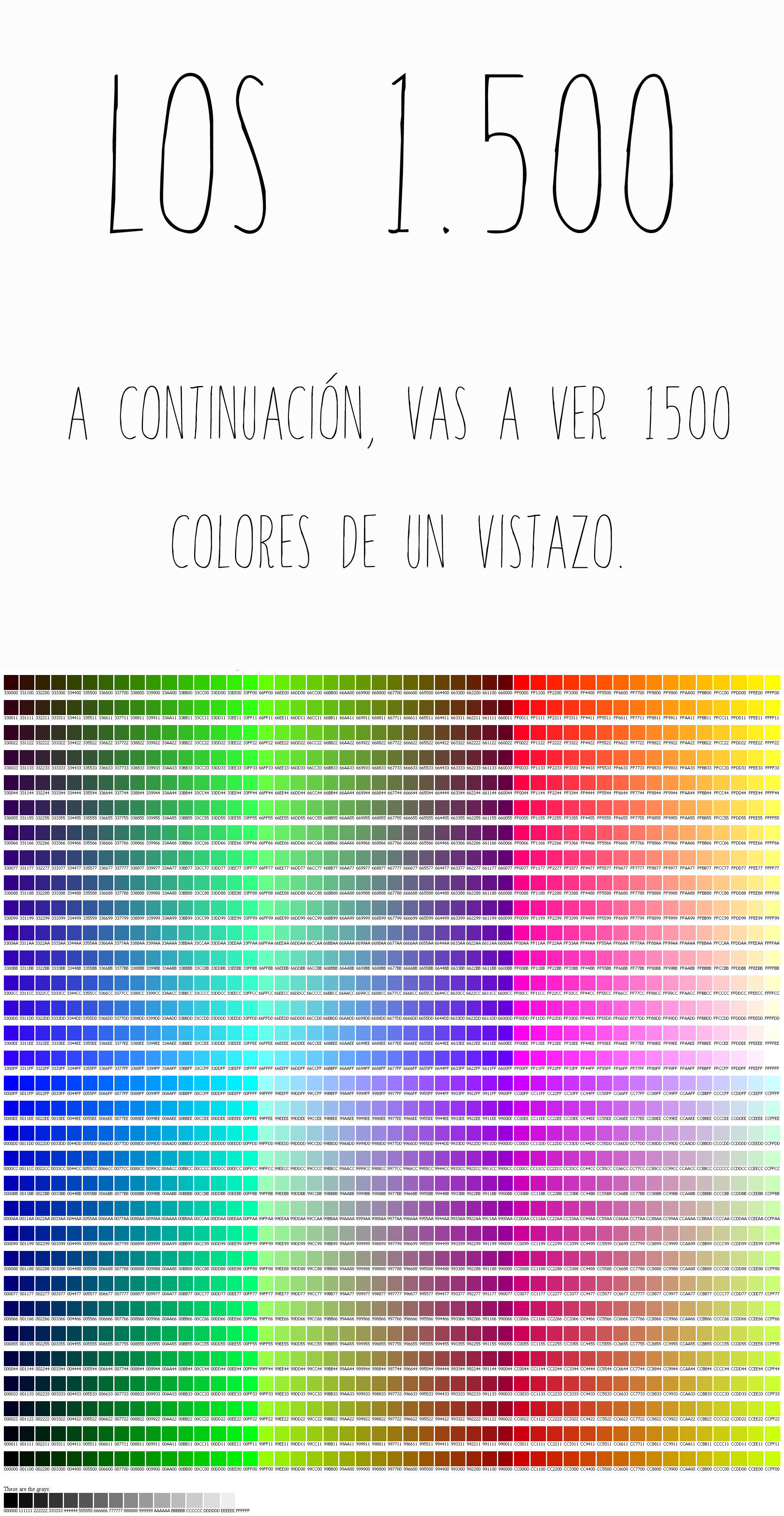 Cuantos colores existen non perfect el blog imperfecto for Cuantos tipos de arboles hay en el mundo