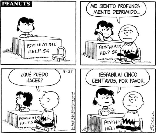 Peanuts Lucy Psychiatry