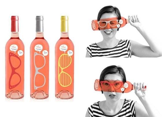 botella gafas