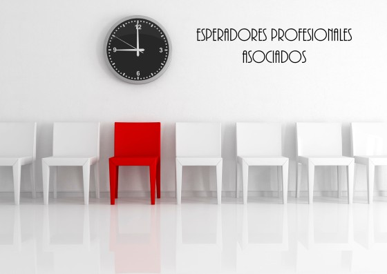Conceptual for many use: red chair and watch in the middle of some white chairs - rendering